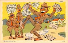 mil201263 - Military Comic Postcard, Old Vintage Antique Post Card