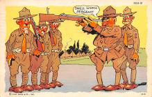 mil201283 - Military Comic Postcard, Old Vintage Antique Post Card