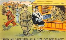 mil201287 - Military Comic Postcard, Old Vintage Antique Post Card