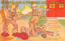 mil201310 - Military Comic Postcard, Old Vintage Antique Post Card