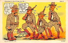 mil201311 - Military Comic Postcard, Old Vintage Antique Post Card