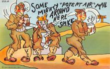 mil201312 - Military Comic Postcard, Old Vintage Antique Post Card