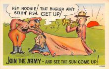 mil201316 - Military Comic Postcard, Old Vintage Antique Post Card
