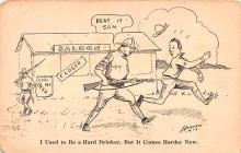 mil201320 - Military Comic Postcard, Old Vintage Antique Post Card