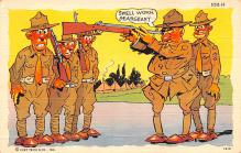 mil201323 - Military Comic Postcard, Old Vintage Antique Post Card