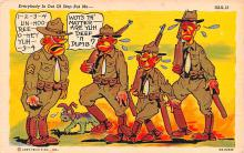 mil201324 - Military Comic Postcard, Old Vintage Antique Post Card