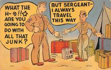 mil201327 - Military Comic Postcard, Old Vintage Antique Post Card