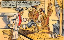 mil201328 - Military Comic Postcard, Old Vintage Antique Post Card
