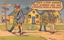mil201330 - Military Comic Postcard, Old Vintage Antique Post Card