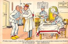 mil201335 - Military Comic Postcard, Old Vintage Antique Post Card