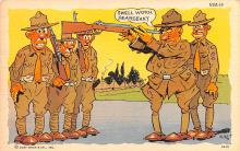 mil201338 - Military Comic Postcard, Old Vintage Antique Post Card