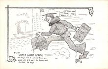 mil201343 - Military Comic Postcard, Old Vintage Antique Post Card