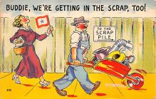 mil201349 - Military Comic Postcard, Old Vintage Antique Post Card