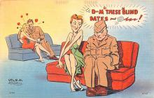 mil201368 - Military Comic Postcard, Old Vintage Antique Post Card