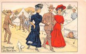 mil201369 - Military Comic Postcard, Old Vintage Antique Post Card