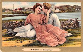 mil201384 - Military Comic Postcard, Old Vintage Antique Post Card