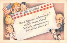 mil201390 - Military Comic Postcard, Old Vintage Antique Post Card