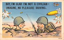 mil201392 - Military Comic Postcard, Old Vintage Antique Post Card