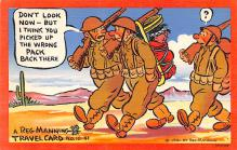 mil201402 - Military Comic Postcard, Old Vintage Antique Post Card