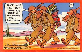mil201402 - Military Comic Postcard, Old Vintage Antique Post Card