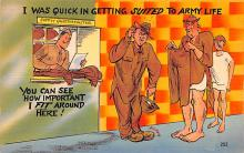 mil201404 - Military Comic Postcard, Old Vintage Antique Post Card
