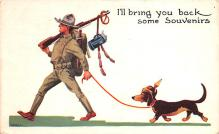 mil201405 - Military Comic Postcard, Old Vintage Antique Post Card