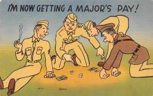 mil201409 - Military Comic Postcard, Old Vintage Antique Post Card