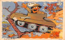 mil201410 - Military Comic Postcard, Old Vintage Antique Post Card