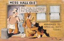 mil201416 - Military Comic Postcard, Old Vintage Antique Post Card