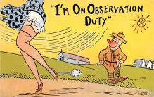 mil201417 - Military Comic Postcard, Old Vintage Antique Post Card