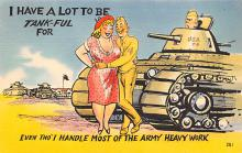 mil201420 - Military Comic Postcard, Old Vintage Antique Post Card