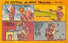 mil201422 - Military Comic Postcard, Old Vintage Antique Post Card