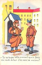 mil201427 - Military Comic Postcard, Old Vintage Antique Post Card