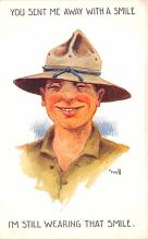 mil201434 - Military Comic Postcard, Old Vintage Antique Post Card