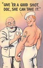 mil201451 - Military Comic Postcard, Old Vintage Antique Post Card