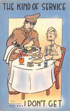 mil201452 - Military Comic Postcard, Old Vintage Antique Post Card