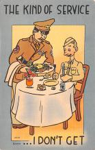 mil201454 - Military Comic Postcard, Old Vintage Antique Post Card