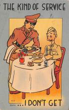 mil201455 - Military Comic Postcard, Old Vintage Antique Post Card