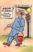 mil201459 - Military Comic Postcard, Old Vintage Antique Post Card