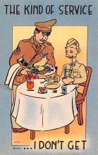 mil201462 - Military Comic Postcard, Old Vintage Antique Post Card
