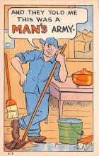 mil201464 - Military Comic Postcard, Old Vintage Antique Post Card