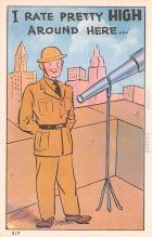 mil201465 - Military Comic Postcard, Old Vintage Antique Post Card