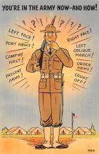 mil201468 - Military Comic Postcard, Old Vintage Antique Post Card