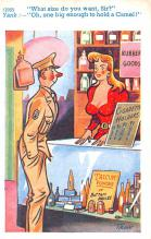 mil201480 - Military Comic Postcard, Old Vintage Antique Post Card