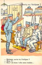 mil201486 - Military Comic Postcard, Old Vintage Antique Post Card
