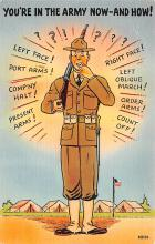 mil201487 - Military Comic Postcard, Old Vintage Antique Post Card