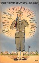 mil201488 - Military Comic Postcard, Old Vintage Antique Post Card