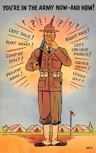 mil201489 - Military Comic Postcard, Old Vintage Antique Post Card