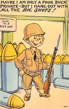 mil201490 - Military Comic Postcard, Old Vintage Antique Post Card