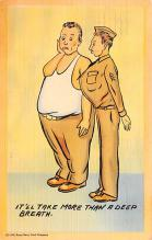 mil201491 - Military Comic Postcard, Old Vintage Antique Post Card